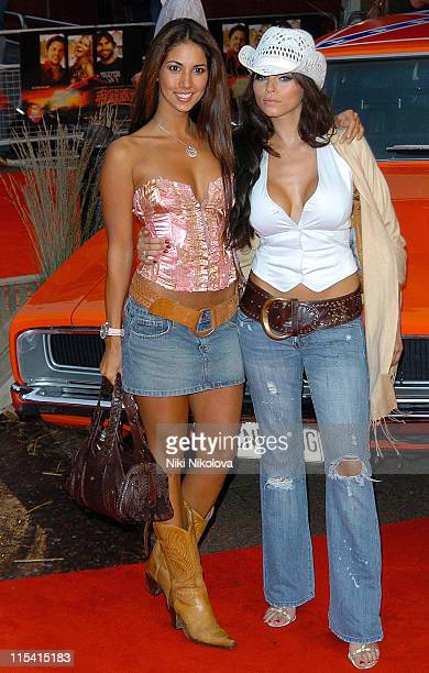 Leilani Dowding and Jerri Byrne during The Dukes of Hazzard London Premiere Arrivals at Vue Leicester Square in London Great Britain