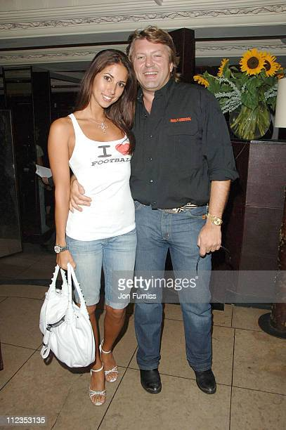 Leilani Dowding and Mark Fuller during Capital Radio Glitz Glamour and Goals Party Inside at Embassy in London Great Britain