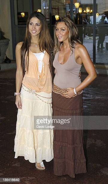 Leilani Dowding and Michelle Heaton during ITV1's Celebrity Wrestling Press Launch at Soho Hotel in London Great Britain