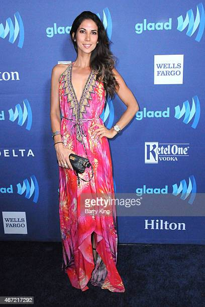 Leilani Dowding arrives at the 26th Annual GLAAD Media Awards at The Beverly Hilton Hotel in Beverly Hills California
