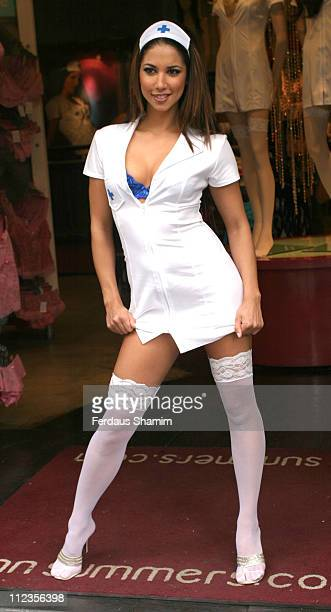 Leilani Dowding during Leilani Launches National Nurses Day 2005 at Ann Summers Oxford Street in London Great Britain