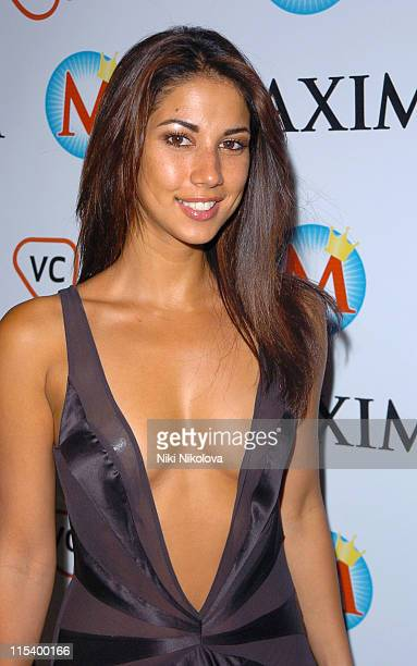 Leilani Dowding during Maxim King of Poker Tournament Arrivals at Pacha in London Great Britain