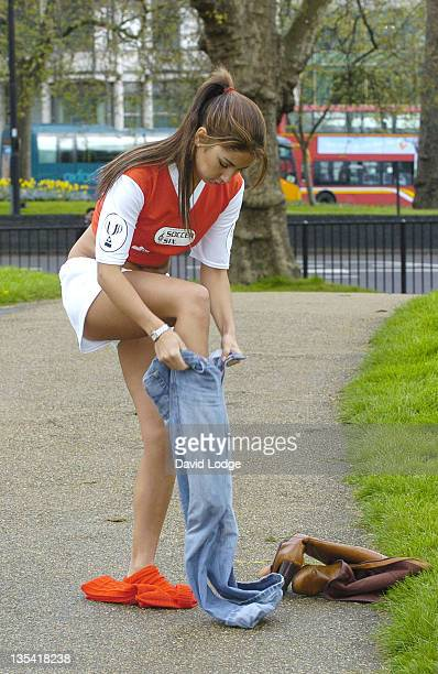 Leilani Dowding during Music Industry Soccer Six 2005 Launch at Hyde Park in London Great Britain