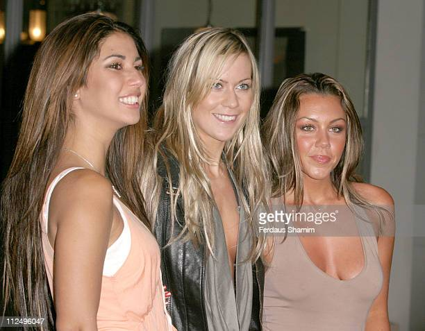 Leilani Dowding Kate Lawler and Michelle Heaton during ITV1's Celebrity Wrestling Press Launch at Soho Hotel in London Great Britain