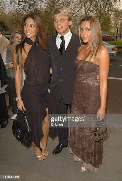 Leilani Jeff Brazier and Michelle Heaton during The 2005 PFA Awards Arrivals at Grosvenor House Hotel in London Great Britain