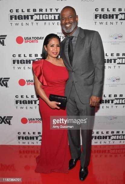 Leilani Malia Mendoza and Brian McKnight attend Celebrity Fight Night XXV on March 23 2019 in Phoenix Arizona