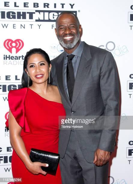 Leilani Malia Mendoza and Brian McKnight attend Celebrity Fight Night XXV at JW Marriott Phoenix Desert Ridge Resort Spa on March 23 2019 in Phoenix...