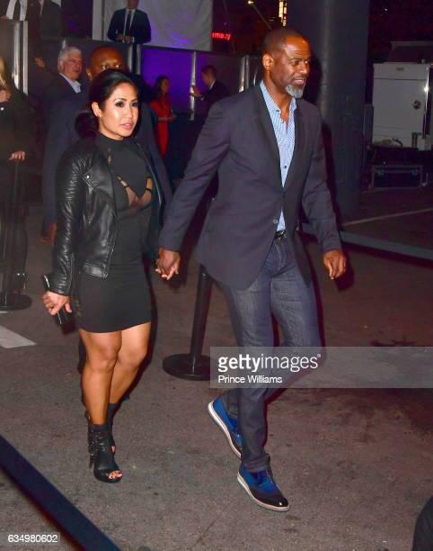 Leilani Mendoza and Brian McKnight are seen on February 11 2017 in Los Angeles California