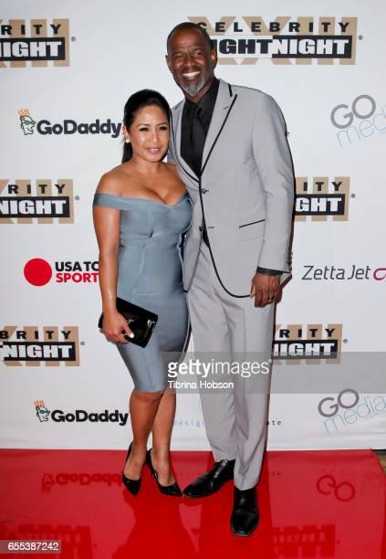 Leilani Mendoza and Brian McKnight attend Muhammad Ali's Celebrity Fight Night XXIII at the JW Marriott Phoenix Desert Ridge Resort Spa on March 18...