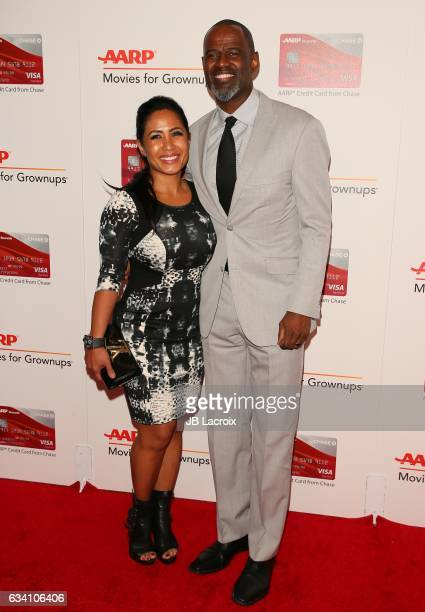 Leilani Mendoza and Brian McKnight attend the AARP's 16th Annual Movies For Grownups Awards on February 6 2017 in Beverly Hills California