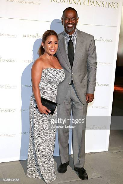 Leilani Mendoza and Brian McKnight attend the closing night reception at Salone del Tronoin Palazzo Corsini as part of Celebrity Fight Night Italy...