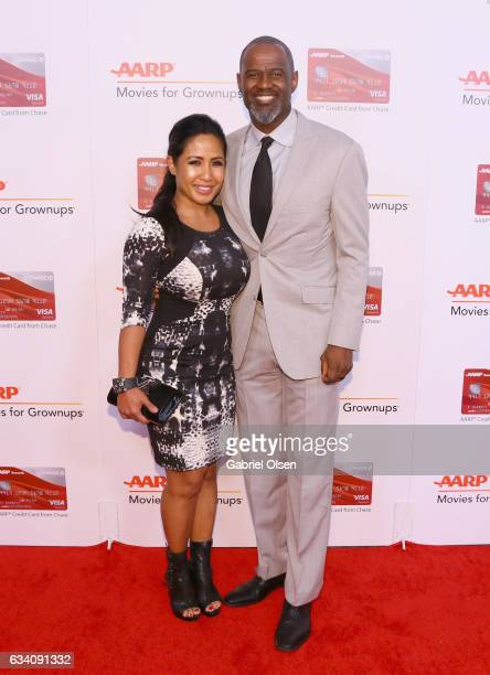 Leilani Mendoza and singer Brian McKnight attend the 16th Annual AARP The Magazine's Movies For Grownups Awards at the Beverly Wilshire Four Seasons...