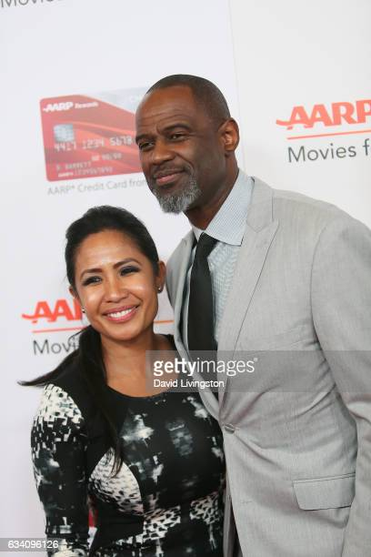 Leilani Mendoza and singer Brian McKnight attend the AARP's 16th Annual Movies for Grownups Awards at the Beverly Wilshire Four Seasons Hotel on...