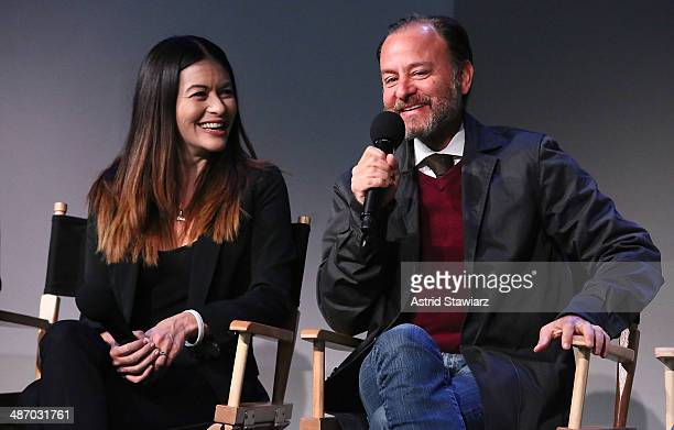 Leilani Munter and Fisher Stevens attend Apple Store Soho Presents Tribeca Film Festival Louie Psihoyos Fisher Stevens And Leilani Munter 6 at Apple...