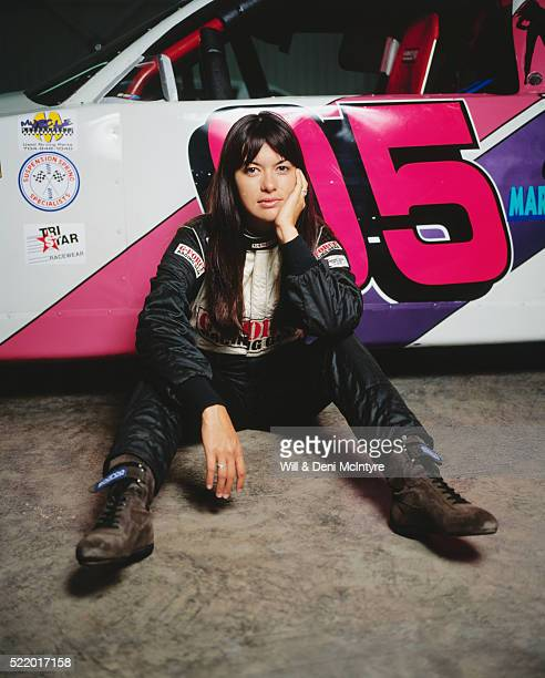 leilani munter and her stock car - leilani munter stock pictures, royalty-free photos & images