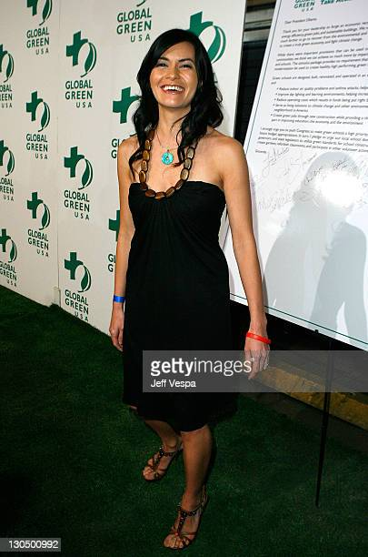 Leilani Munter arrives at Global Green USA's 6th Annual PreOscar Party held at Avalon Hollwood on Februray 19 2009 in Hollywood California