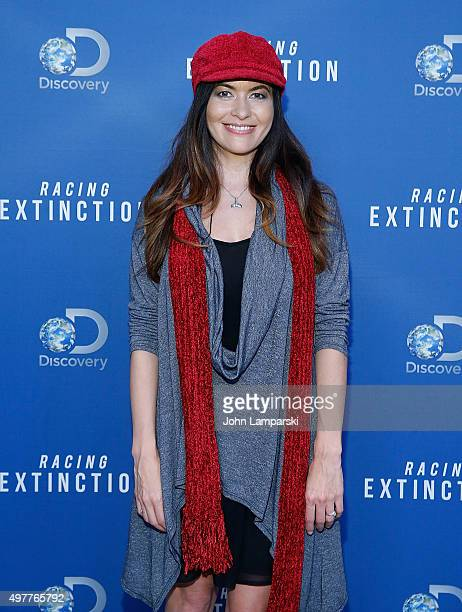 Leilani Munter attends Racing Extinction New York Premiere at TheTimesCenter on November 18 2015 in New York City