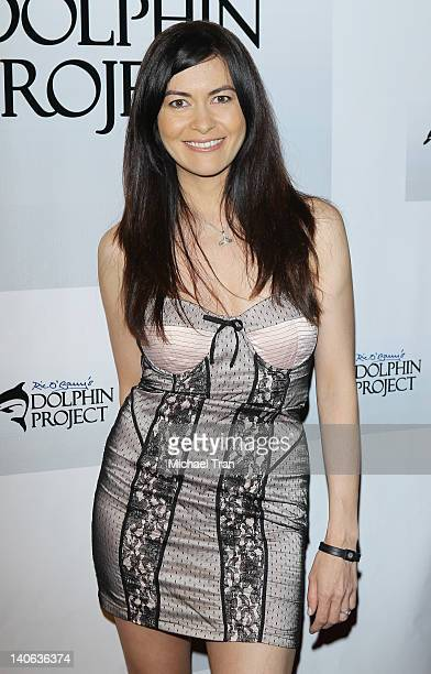 Leilani Munter attends the cocktail reception honoring Richard O'Barry star of the OscarWinning Documentary The Cove held at a private residence on...
