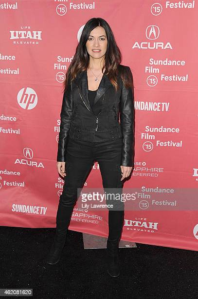 Leilani Munter attends the RACING EXTINCTION Premiere at The Marc Theater on January 24 2015 in Park City Utah