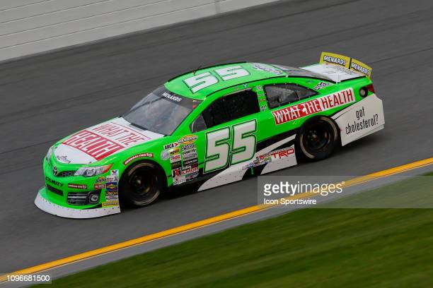 Leilani Munter driver of the What The Health Toyota drives during the Lucas Oil 200 Driven by General Tire on February 9 2019 at Daytona...