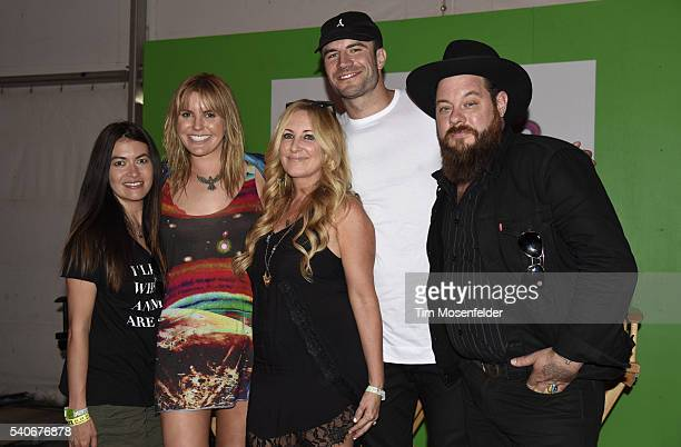Leilani Munter Grace Potter Lee Ann Womack Sam Hunt and Nathaniel Ratliff attend the press conference during the Bonnaroo Music Arts Festival on June...