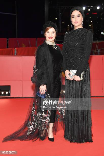 Leili Rashidi and Parinaz Izadyar attend the 'Pig' premiere during the 68th Berlinale International Film Festival Berlin at Berlinale Palast on...
