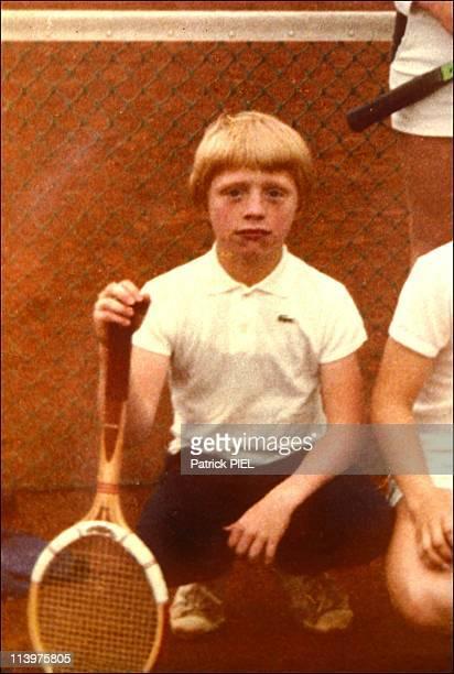 Leimen celebrating their champion Boris Becker in Germany on July 12 1985
