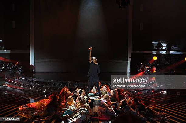Leiner performs live at 'X Factor TV Show ' on November 13 2014 in Milan Italy