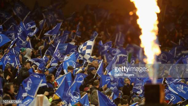 Leinster fans during the Champions Cup match between Leinster Rugby and Bath Rugby at the Aviva Stadium on December 15 2018 in Dublin Ireland