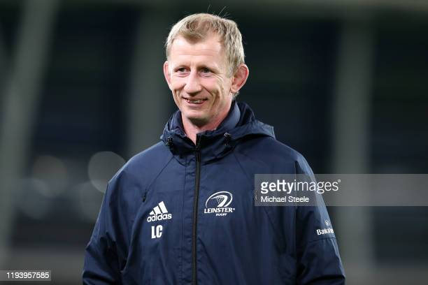 Leinster Head Coach Leo Cullen ahead of the Heineken Champions Cup Round 4 match between Leinster Rugby and Northampton Saints at Aviva Stadium on...