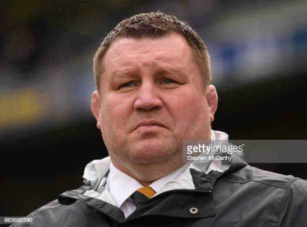 Leinster Ireland 1 April 2017 Wasps Director of Rugby Dai Young prior to the European Rugby Champions Cup QuarterFinal match between Leinster and...