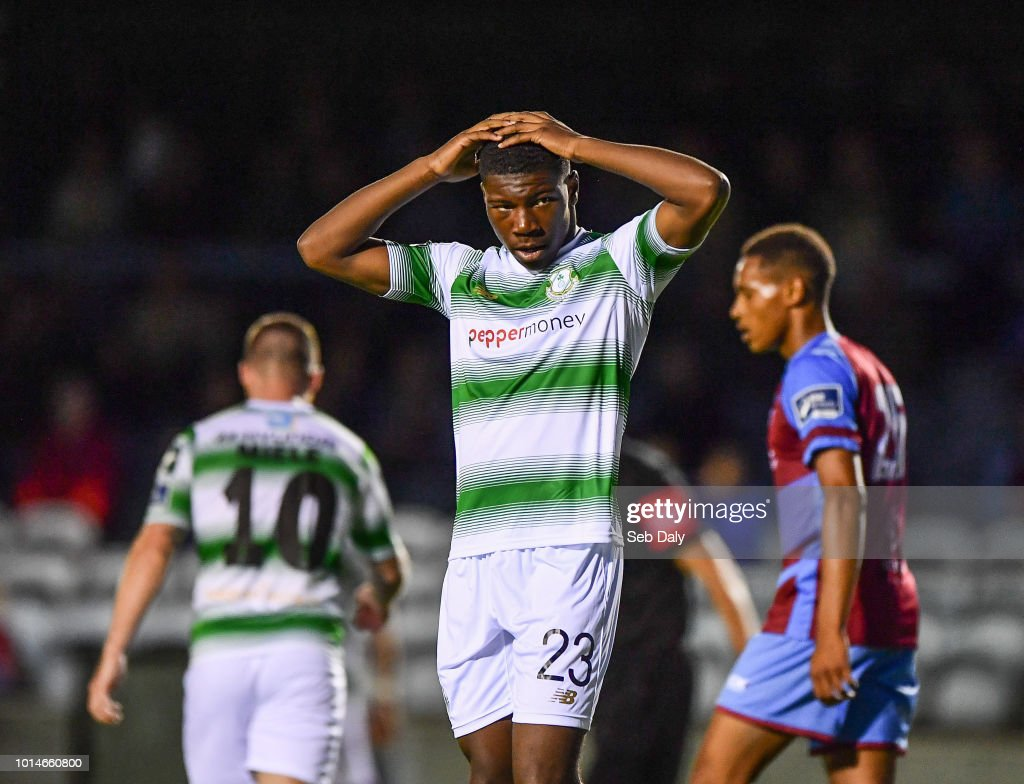 Leinster , Ireland - 10 August 2018; Sinclair Armstrong of Shamrock Rovers reacts during the Irish Daily Mail FAI Cup First Round match between Drogheda United v Shamrock Rovers at United Park, in Drogheda.