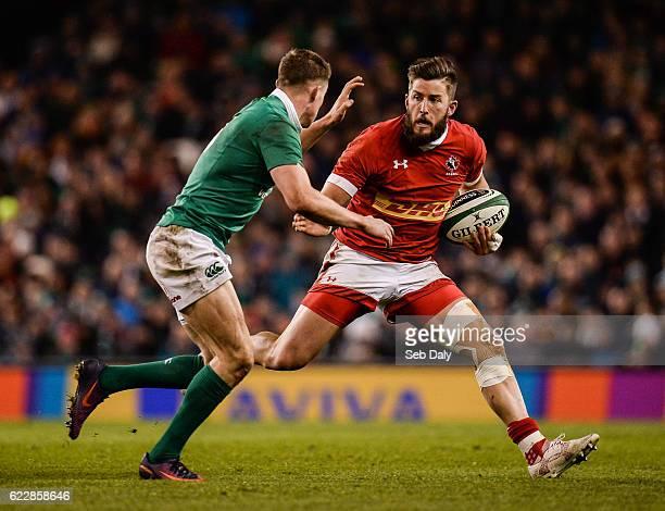 Leinster Ireland 12 November 2016 DTH van der Merwe of Canada in action against Garry Ringrose of Ireland during the Autumn International match...