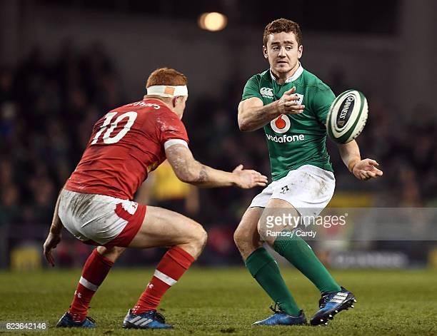 Leinster Ireland 12 November 2016 Paddy Jackson of Ireland during the Autumn International match between Ireland and Canada at the Aviva Stadium in...