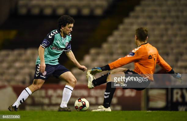 Leinster Ireland 24 February 2017 Barry McNamee of Derry City in action against Shane Supple of Bohemians during the SSE Airtricity League Premier...