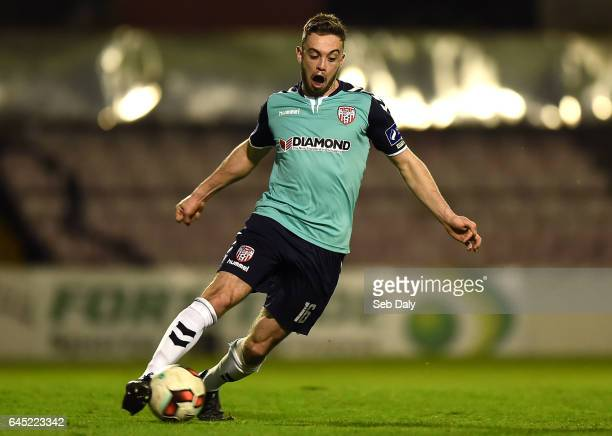 Leinster Ireland 24 February 2017 Nathan Boyle of Derry City during the SSE Airtricity League Premier Division match between Bohemians and Derry City...
