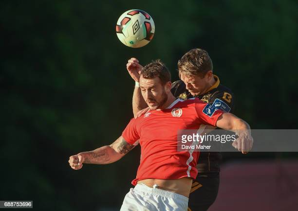 Leinster Ireland 26 May 2017 Kurtis Byrne of St Patrick's Athletic in action against Dane Massey of Dundalk during the SSE Airtricity League Premier...