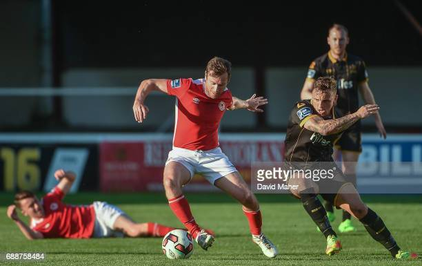 Leinster Ireland 26 May 2017 Pat Cregg of St Patrick's Athletic in action against Paddy Barrett of Dundalk during the SSE Airtricity League Premier...