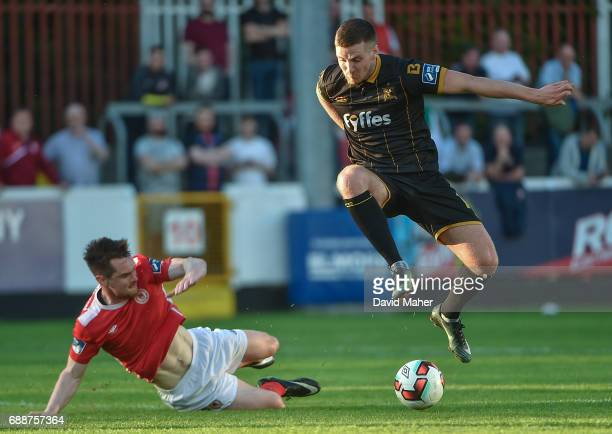 Leinster Ireland 26 May 2017 Patrick McEleney of Dundalk in action against Michael Barker of St Patrick's Athletic during the SSE Airtricity League...