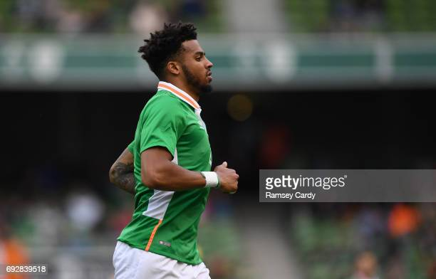 Leinster Ireland 4 May 2017 Cyrus Christie of Republic of Ireland during the international friendly match between Republic of Ireland and Uruguay at...