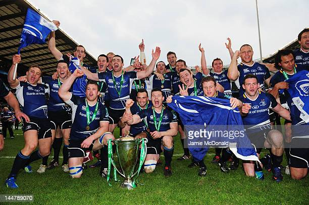 Leinster team celebrate victory during the Heineken Cup Final between Leinster and Ulster at Twickenham Stadium on May 19, 2012 in London, United...