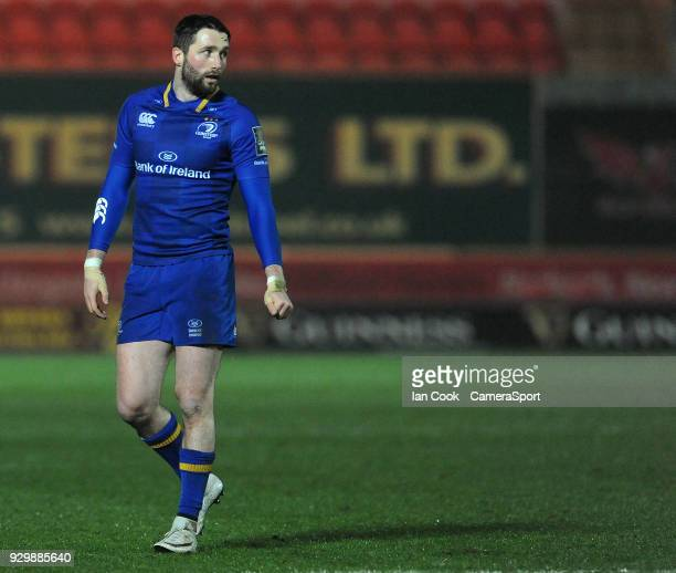 Leinster's Barry Daly in action during todays match during the Guinness Pro14 Round 17 match between Scarlets and Leinster Rugby at Parc y Scarlets...