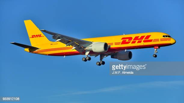 d-aleo eat leipzig boeing 757-200 - boeing 757 200 stock pictures, royalty-free photos & images