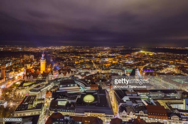 leipzig city center in winter - ライプツィヒ ストックフォトと画像