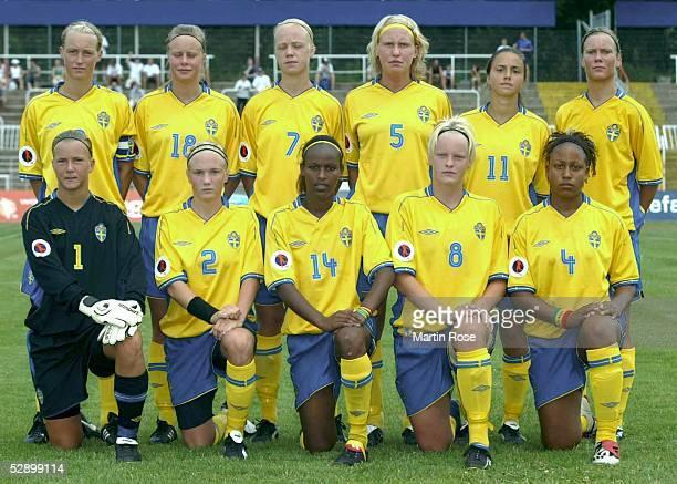 EM 2003 Leipzig Deutschland Schweden hintere Reihe vl Maria NILSSON Sofie ANDERSSON Caroline SEGER Maria KARLSSON Maria NORDBRANDT vordere Reihe vl...