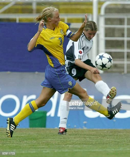 EM 2003 Leipzig Deutschland Schweden Maria NILSSON/SWE Anja MITTAG/GER