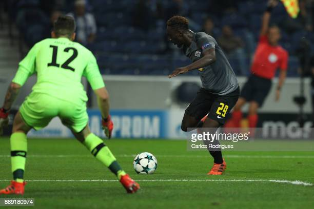 Leipzig forward Jean Kevin Augustin from France during the match between FC Porto v RB Leipzig or the UEFA Champions League match at Estadio do...