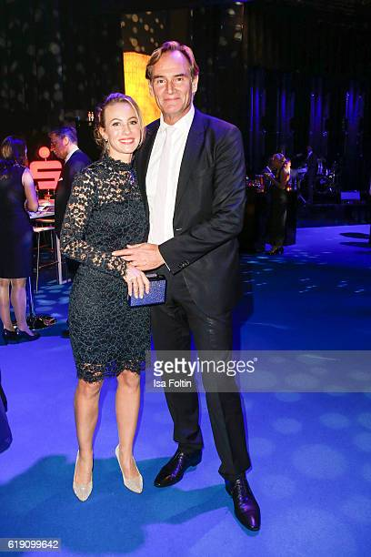 Leipzig major Burkhard Jung and his wife Ayleena Jung during the aftershow party at the Goldene Henne on October 28 2016 in Leipzig Germany