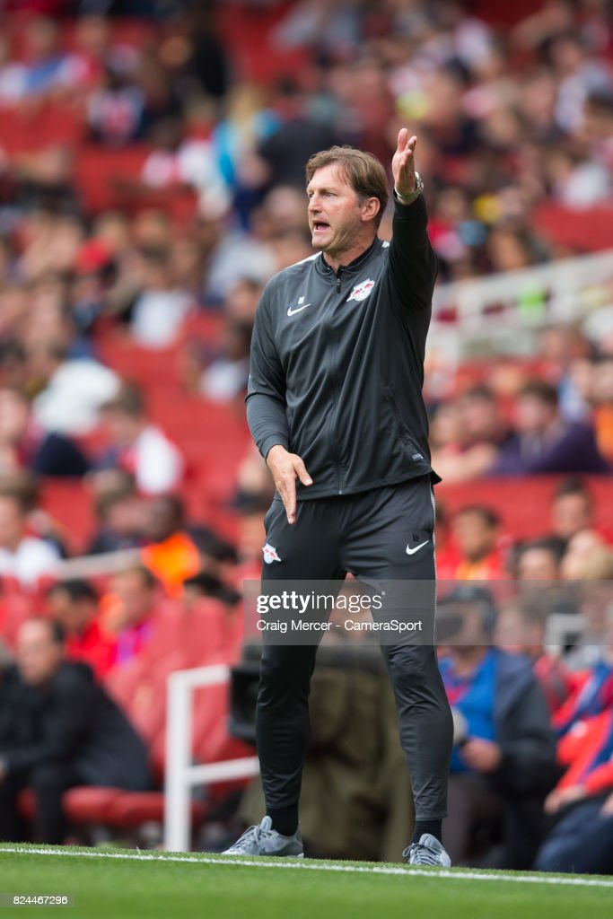 Rb Leipzig Manager Ralph Hasenhuttl During The Emirates Cup Match News Photo Getty Images