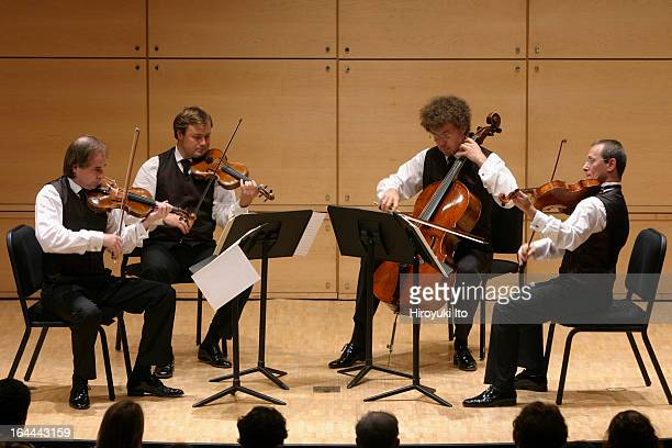 Leipzig String Quartet performing in the Mostly Mozart Festival at Walter Reade Theater on Sunday afternoon August 6 2006They are from left Andreas...